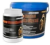 Creatin Pur 500g+Anabol Muscle Gigant Banane 2,27kg! 100% Kreatin Monohydrat Eiweißpulver Eiweißshake Protein BCAA super anabol Masse Kraft
