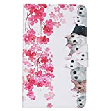 Etui Galaxy Tab A6 10.1 ', Coque 2017 Etui Housse Flip Cover pour Samsung Galaxy Tab A6 10.1' Housse pour Tablette SM-T580 T585 (Chats)