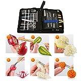 Kit Outils Sculpture Aliments Portable Outils de Sculpture Culinaire Set Portable...
