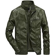 pretty nice ef0ba 6779e Amazon.it: giacca in pelle uomo - Verde