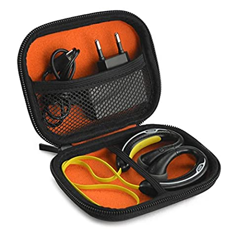Sports Wireless Bluetooth Headset Carrying Case, Fit Jabra, Sony, Powerbeats, JayBird, iSport / Sweat Proof Workout Earbuds Carrying Case with Space for Cable, Charger, Parts and Accessories