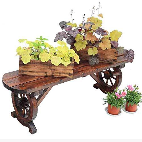 CWJ Blumenständer-Multifunktionale Holz Blumenständer Einfache Bank Bank Balkon Dekorative Regal Wohnzimmer Pflanze Indoor und Outdoor Blumen Topflappen,140 cm