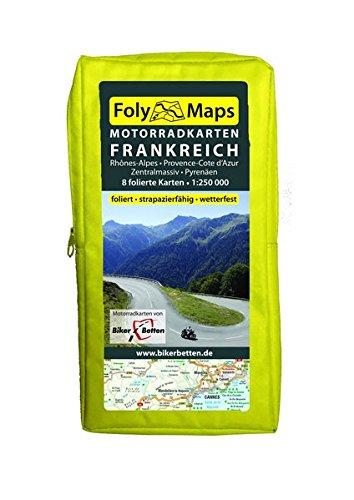 FolyMaps Motorradkarten Frankreich Süd: 1:250 000 Rhônes-Alpes, Provence-Cote d´Azur, Pyrenäen, Zentralmassiv