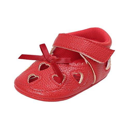 Baby Schuhe Auxma Baby Mädchen Frühling Sommer Schuhe Bowknot Prinzessin Schuhe Für 3-18 Monate (3-6 M, Beige) Rot