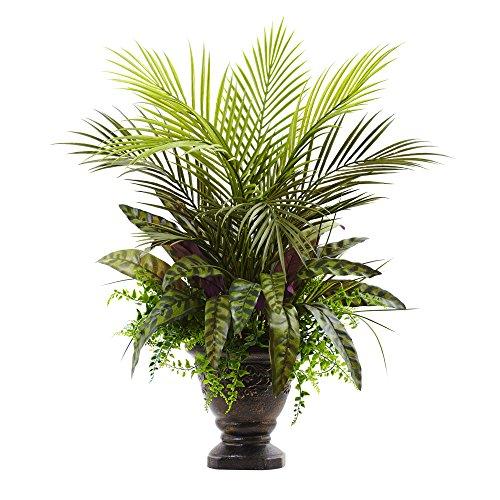 Fast natur gemischt Areca Palm, Farn & Pfau mit Übertopf, 68,6cm