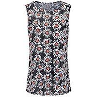 Good dress Camiseta sin Mangas con Estampado Digital Hepburn de Tops sin Mangas para Mujer, Color 7, SG