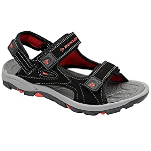 men's dunlop sports beach trekking walking hiking touch close strap sandals sizes 7 - 12