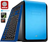 Gaming G4 OliWooD Design PC inkl. bunter Design Tastatur (8x 3.5-4.0GHz, 16GB, 128GB SSD, 2000GB HDD, Geforce GTX 970, DS Cube, USB 3.0, Windows 10 Pro) (Blau)