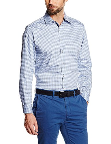 Seidensticker Herren Businesshemd Uno Super Slim Blau