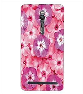 PrintDhaba Flowers D-5356 Back Case Cover for ASUS ZENFONE 2 (Multi-Coloured)