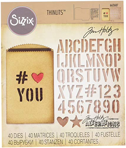 Sizzix 662687 Thinlits Stanzschablone, Stahl, Multicolour, 19 x 14.4 x 0.4 cm