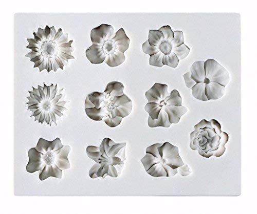 baifeng Blume Kuchen Fondant Form, Rosen Candy Making Silikon Tablett Gebäck, Chrysanthemum Kuchen Dekoration Form, Sunflower Schokolade Sugarcraft Kleine Werkzeug