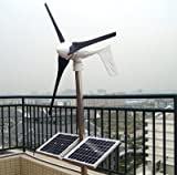 Gowe Grid Tie 500W Solar Wind Hybrid-System, 400W Windkraftanlage + 100W Solar + Controller + Grid Tie Inverter