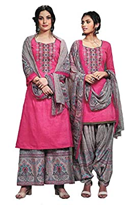 Cambric Cotton Punjabi Pakistani suit designer EMBROIDERED UNSTITCHED Dress Material for women by Elegance Fashion And You