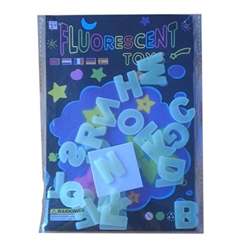 26 englische Buchstaben Glow In The Dark Luminous Alphabete Wandaufkleber Kinderbildungs ()