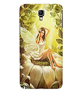 ColourCraft Butterfly Girl Design Back Case Cover for SAMSUNG GALAXY NOTE 3 NEO DUOS N7502