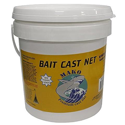 Mako Bait Cast Net 3/8SQUARE Mesh, 6ft. cbt-s6(6ft. Radius) by Sportsman Supply Inc.