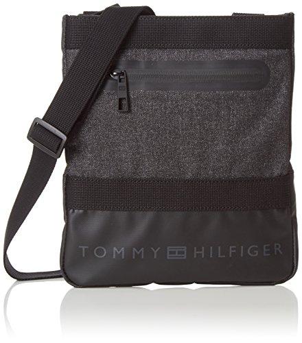 Tommy Hilfiger Inner City, Borsa a Tracolla Uomo, Grigio (Grey Mix 901 901), 23x26x2 cm (B x H x T)