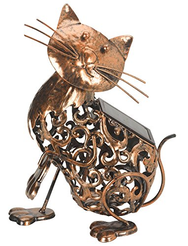 La lampe solaire jardin chat