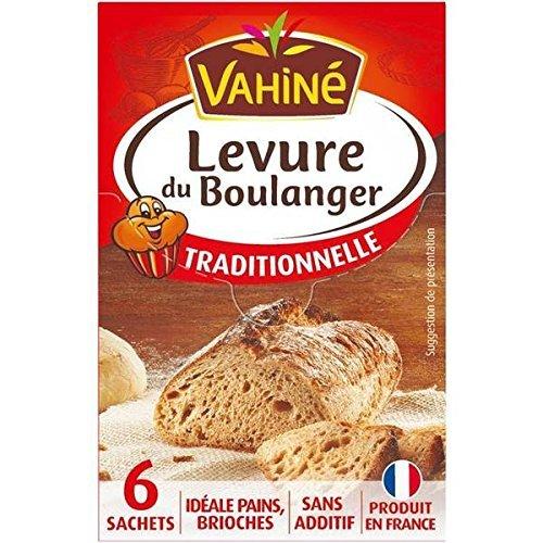 Levure de boulangerie traditionnelle VAHINE x 6 sachets 48g