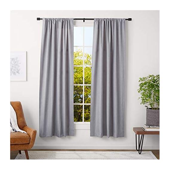 AmazonBasics 1 Adjustable Curtain Rod