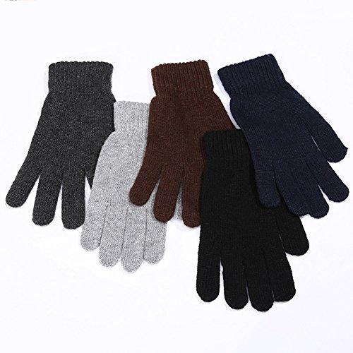 Zedo Handschuhe Winter Damen Touchscreen Künstliches Wildleder super weiche Handschuhe Outdoor Herren Handschuhe Warme Handschuhe Winterhandschuhe sehr warm im kalten Winter aus Wolle