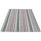 Couvertures de pique-nique Tapis de plage étanche à l'humidité Tapis de plage pique-nique Tapis de plage imperméable Oxford 150 * 200cm ( Couleur : Color stripes style )