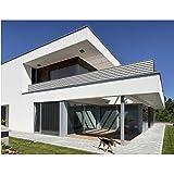 Balkon Sichtschutz Grau Weiß 500x90 Balkonsichtschutz Balkonumrandung Balkonverkleidung Windschutz