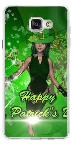 St Ideen Geschenke Patrick Tag (TPU Transparent SilikonHülle für Samsung Galaxy A7 2016 (SM-A710) - Happy St. Patrick Tag by)
