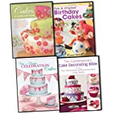 Cake Designing and Decorating 4 Books Collection Pack Set RRP 68.96 (Fun & Or...