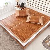 Coole Matratze Faltbare Bambusmatten Doppelseitige Sommerschlafmatte Einzel- / Doppelbett (ohne Kissenbezüge) (mehrfarbig) Coole Bambusmatte ( größe : 1.5M(5FT)BED )
