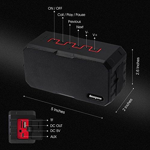 Portable-Bluetooth-Speakers-DEEPOW-10W-IP67-Waterproof-Wireless-Speaker-with-3000mAh-Power-Bank-Mini-Outdoor-Stereo-Bluetooth-Speaker-with-12h-Playtime-Dual-Drivers-Enhanced-Bass-Built-In-Mic-Support-