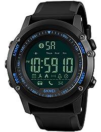 Hombres y mujeres Medidor electrónico de movimiento inteligente,Aire libre Escalar montañas Despertador Luminoso Impermeable Relojes multifunción-B