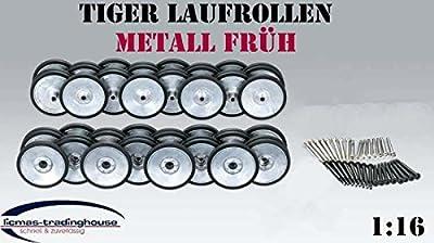 Tiger I Rc Panzer Metall Laufrollen FrÜh Mit Gummiummantelung 1:16 von Heng Long