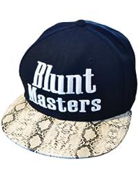 Blunt Masters Schwarz und Schlangenhaut-Effekt Snapback Baseballkappe (Black)