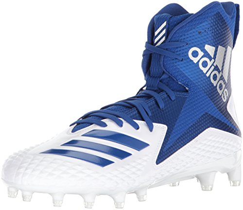 adidas Herren High Freak X Carbon Mid Football-Schuhe, White Collegiate Royal, 45 EU M - Cleats Football