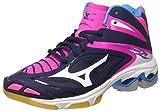 Mizuno Damen Wave Lightning Z3 Mid W Volleyballschuhe, Mehrfarbig (Peacoat/White/Pinkglo), 40 EU