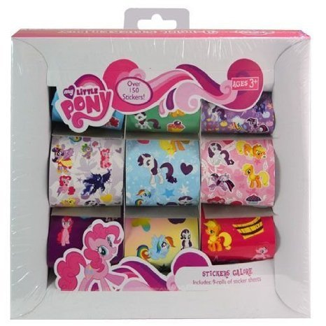 Pony My Sticker-box Little (My Little Pony 9 Roll Sticker Box - Over 150 Stickers by MLP)