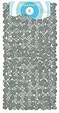 Circul Badewannenmatte 70 x 35 cm grau Steinoptik modern