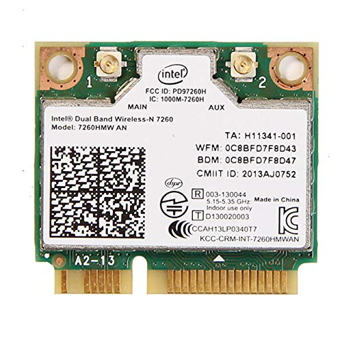 Intel 7260.HMWWB.R Dual Band Wireless-AC 7260-PCIe WLAN / 802.11AC, Bluetooth 4.0 Mini-PCI-Karten -