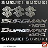 Stickers Suzuki Burgman 400–cromo–Tabla 9adhesivos, adhesivos, pegatinas, GT-DESIGN