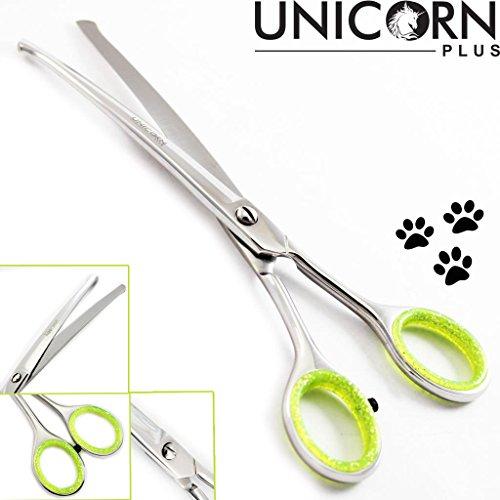 Unicorn plus Scissors - forbici professionali punta arrotondata cane / gatto Preparando, 6.5