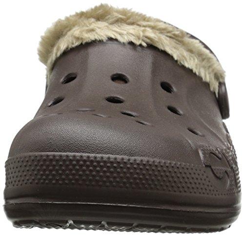 Crocs Unisex Baya peluche bordée Clog Marron