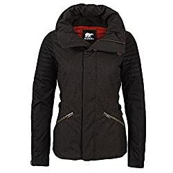 Sorel Joan Of Arctic Womens Jacket - Mediumolive Heather-black