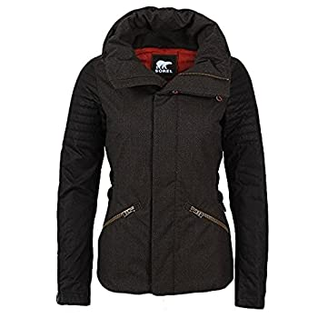 Sorel Joan Of Arctic Womens Jacket - Mediumolive Heather-black 0