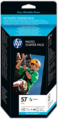 HP 57 Photo Starter Pack - 60 Blatt/10 x 15 cm plus Tab