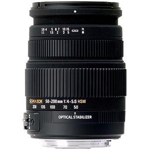 Sigma 50-200 mm F4,0-5,6 DC OS HSM-Objektiv (55 m Filtergewinde) für Pentax Objektivbajonett