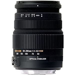 Beste Zoomobjektive: Sigma 50-200 mm F4,0-5,6 DC OS HSM