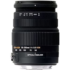 Sigma 50-200mm f/4-5.6 DC OS HSM Lens for Nikon Digital SLR Camera with APS C Sensors