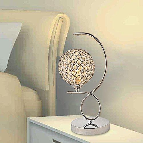 *KK* Crystal Lampe Mini-LED-Schlafzimmer Bettdecke moderne einfache Persönlichkeit warme Licht kreative Hochzeit Raum Hause (Farbe: Push-Button-Schalter)